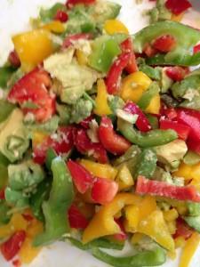 pepper ginger avocado mix
